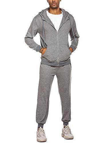 MAXMODA Microfaser Herren Jogginganzug, Trainingsanzug, Sportanzug, Freizeitanzug, Hausanzug, X-Large