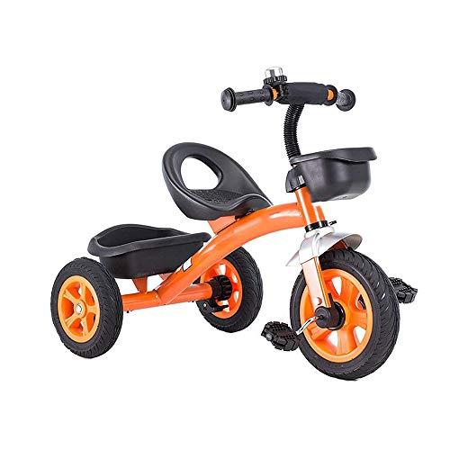 Para niños Niñito Pedal Triciclo, 1-6 años Antiguo Chico y Niña Equilibrar Bicicleta con Pedales y Frente y Posterior Grande Capacidad Almacenamiento Cesta, los para Para niños Al aire libre,N