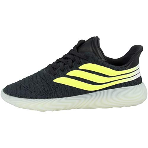 adidas SOBAKOV, Zapatillas para Hombre, Gris (Carbon/Solar Yellow/Blue Tint s18 10013915), 42 EU