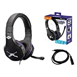 Subsonic - Casque Gaming avec micro pour Playstation 4 - PS4 Slim - PS4 Pro - Xbox One - PC - Nintendo Switch - Edition accessoire gamer Battle Royal avec rallonge Switch