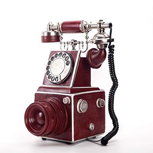 ZJUAN Teléfono De Marcación Rotatoria,Casa Línea Terrestre con Cable,Estilo Antiguo Teléfono Retro,Anti Radiación Teléfono Fijo,Clásico Decoración del Hogar Marcación Giratoria