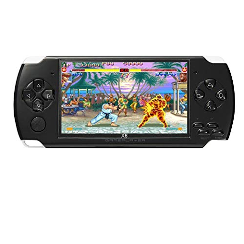 4.3 inch 8GB Handheld Portable Game Console Built in 1200+Real Video Games for gba/gbc/SFC/fc/SMD Games mp3/mp4/mp5/DV/DC Function (Black)