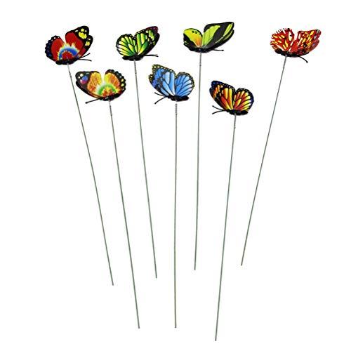 TOYMYTOY 12pcs Papillon pieu de Jardin décoratif piquets de Papillon Ornements de Jardin Patio décor Papillon Partie Fournitures pour la Cour en Plein air de Noël (Couleur aléatoire)