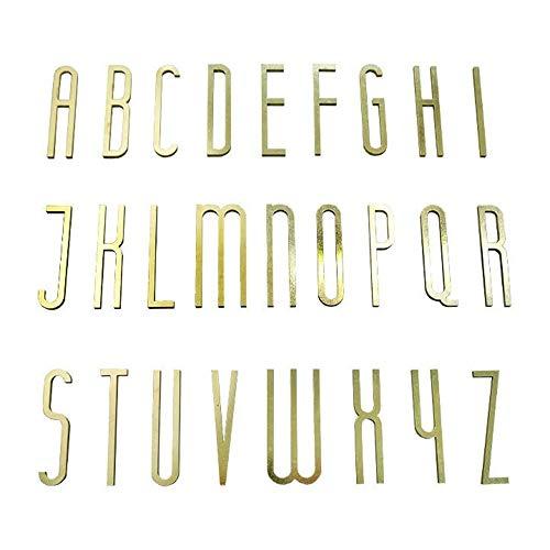 Huisnummer Koperen Letters, Wanddecoratie, Lettershop Naam Van De Verkoper Hotelbedrijf Letter Teken Messing Nummer (Color : R, Size : 70cm)