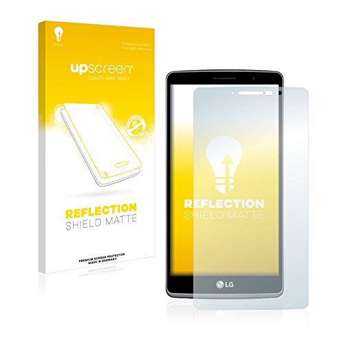 upscreen Entspiegelungs-Schutzfolie kompatibel mit LG G4 Stylus – Anti-Reflex Bildschirmschutz-Folie Matt