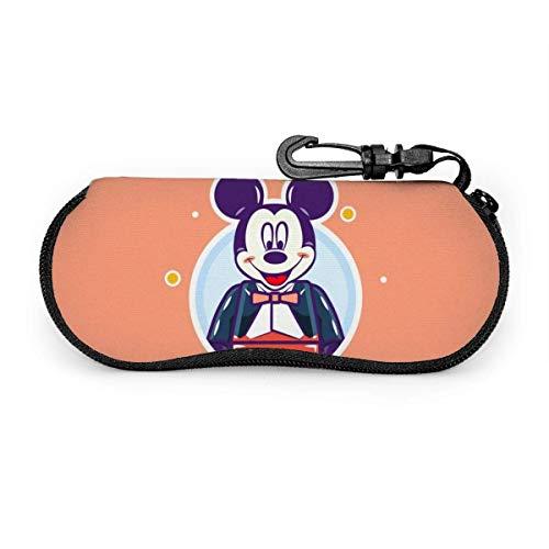 TURFED Custodia per occhiali da sole e da vista Porta occhiali con cerniera resistente Topolino con clip da cintura-CFH
