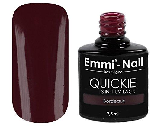 Emmi-Nail UV-nagellak in glanzend donkerrood, zonder zweetlaag, geen onder- en overlak vereist, 7,5 ml bordeaux