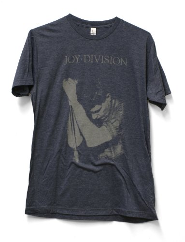 Men's Joy Division Ian Curtiss Fitted Jersey T-shirt (Large/Grey)