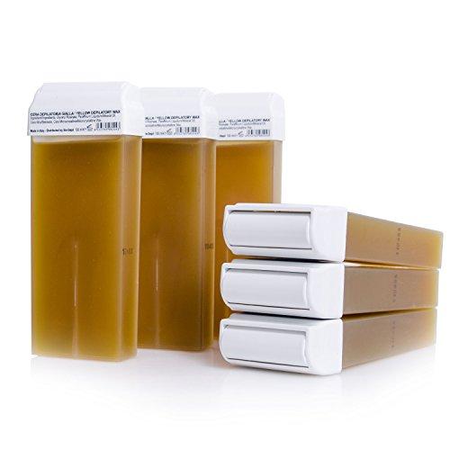 Warmwachspatronen Honig 6 Stück je 100ml - Nachfüllset