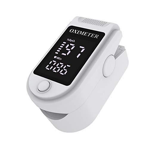 Unisex-Blutsauerstoffsättigungsmonitor Puls Herzfrequenzmonitor Fingerclip Pulsoximeter Watch with ABS OLED-Herzfrequenzmonitor Weiß