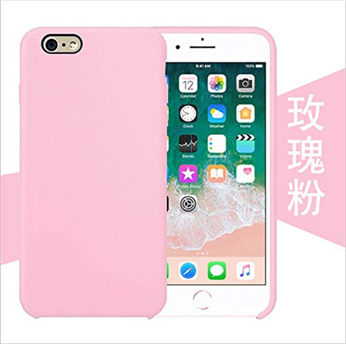 JLFDHR Funda de Silicona Oficial Original para Apple iPhone 7 8 6 6s Plus 5 5s SE Funda para iPhone 6 7 X XS MAX XR Funda de teléfono sin Logo-para iPhone 6 6s-Rosa Rosa