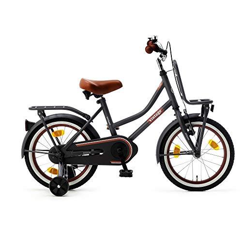 Kinderfiets Nogan Vintage 12, 14, 16 en 18 inch met stalen frame en zijwieltjes voor kinderen van 3 tot 7 jaar