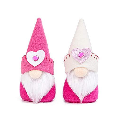TRAINSTOO 2 muñecos irlandeses rosas, lindas muñecas, decoración de fiesta de Pascua, utilizado como decoración de habitación de cumpleaños