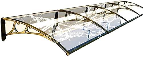 Toldos para techos para exteriores toldos para puertas toldos para exteriores para la lluvia | Refugio silencioso de policarbonato transparente a prueba de lluvia de 2.5 mm para porche | para jardín