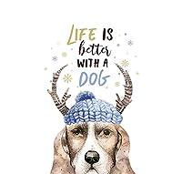 車 ステッカー犬 寝室用30Cmウォールステッカーアート手描きの犬のウォールステッカーキッチンデコレーション