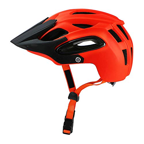 Casco Bici Yuan Ou Casco da bicicletta In-mould Mtb Casco da ciclismo Sport di sicurezza Casco da fuoristrada Super Mountain Bike 54-58 cm M ARANCIO