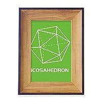 二十面体数学幾何学的空間 フォトフレーム、デスクトップ、木製