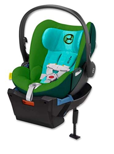 Cybex Platinum Cloud Q Hawaii Green Infant Car Seat with Load Leg Base