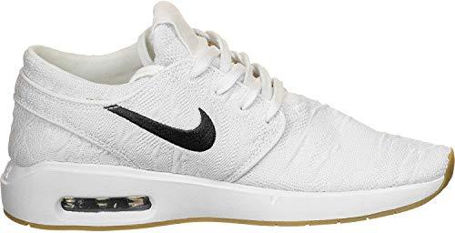 Nike Mens SB AIR MAX Janoski 2 Walking Shoe, White/Obsidian-Celestial Gold