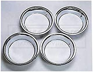 Eckler's Premier Quality Products 40337454 Chevy Rally Wheel Trim Rings 15 X 8 Stainless Steel