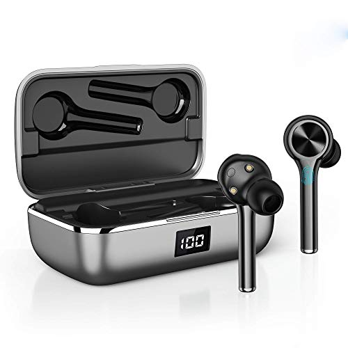 Wireless Earbuds, Upgrated Bluetooth Headphones, Touch Control in-Ear Earphones, TWS Wireless Earphones IPX6 Waterproof, Noise Cancelling Stereo Built in Mic Headset for Sport
