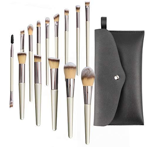 MOCOPO Makeup Brushes Set 14 Pcs Professional Premium Synthetic Cosmetic Brush for...