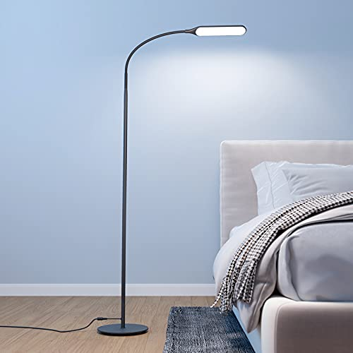 Govee Led Floor Lamp, Standing Lamp with 4 Color Temperatures Brightness Levels, Dimmable Modern Reading Lamp with Adjustable Gooseneck, for Reading, Living Room, Bedroom, Piano, Painting