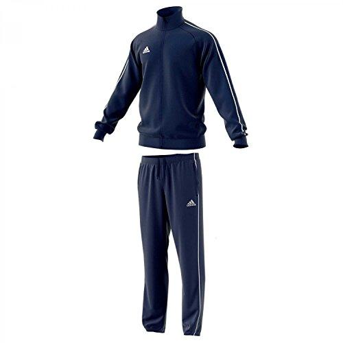 adidas Herren Polyesteranzug Core 18 Dark Blue/White L