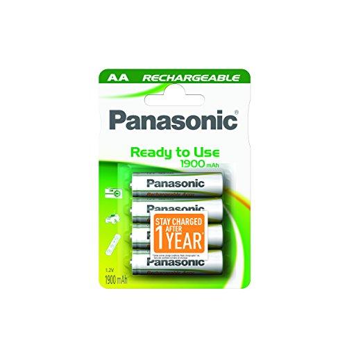Panasonic Evolta - Pilas Recargables AA, 2.05Ah NiMH, 4 Piezas