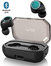 【130h Play Time】 Muzili Sports True Wireless Earbuds, Bluetooth 5.0, 3000mAh Charging Box for 130h Music Time, 9mm Drivers for Stereo Hi-Fi Sound, IPX7 Waterproof in Ear, Noise-Cancelling Headphones