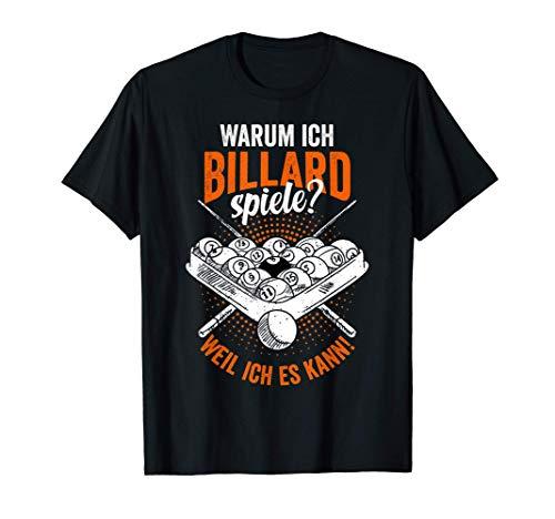 Billard Billards Pool Snooker Billardspieler Poolspieler T-Shirt