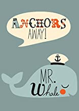 Oopsy daisy Anchors Away Mr. Whale Canvas Wall Art, 10x14, Blue