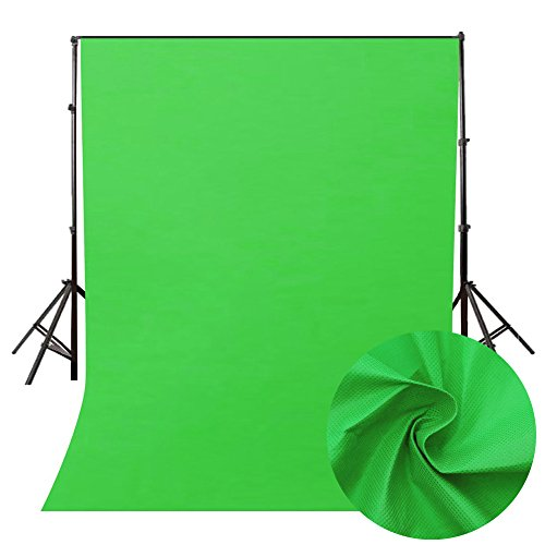 95sCloud Green Hintergrund Greenscreen 160 * 200cm, Ausfahrbares Green Screen Fotostudio mit Chromakey Effekt Film Shooting Background Backdrops Photography für Fotografie, Video und Fernsehen (Grün)