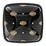 Perillas para gabinete de cocina de 1,18 pulgadas de fútbol sobre fondo oscuro, tiradores y pomos de cristal para cajones de 3 cm (4 unidades)