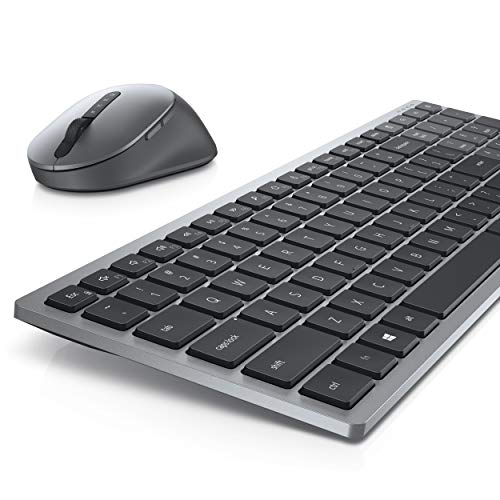 Dell Multi-Device Wireless Keyboard and Mouse - KM7120W - 36 Month Battery Life,Titan Gray,KM7120W