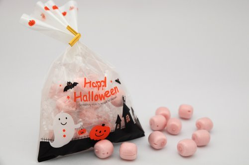 ハロウィン 小袋キャンディ 苺ミルク 100個