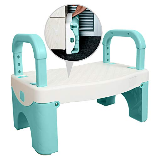 Sturdy Step Stool for Kids Toddlers Bathroom Potty Training 135 x 921 x 104quot with Adjustable Removable Handles NonSlip Bottom Safe Textured Step Lightweight Folds for Compact Storage