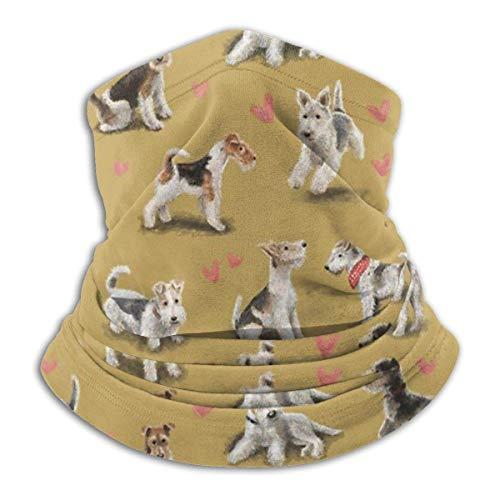 brandless Face Mask The Fox Terrier Ski Mask Hat Neck Gaiter Headwear for Women Men