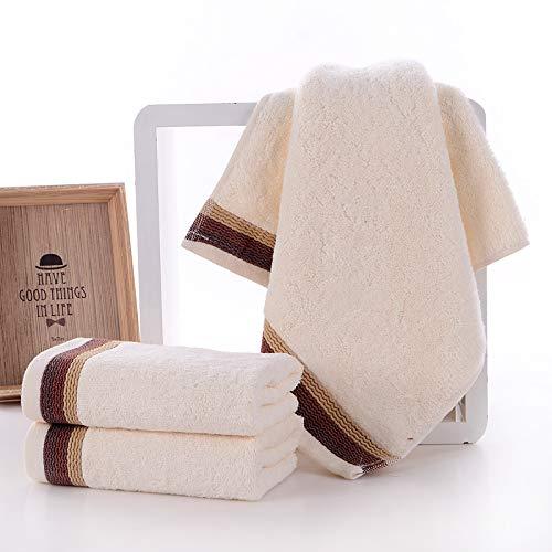 Crhm-handdoek Absorbens Thuis Bamboe Houtskool Wassen Gezicht Handdoek Katoen Eenvoudig Te Gebruik Handdoek, Wit, 76X34Cm Is Ideaal Voor Reizen, Fitness, Camping, Zwemmen, Yoga En Pilates