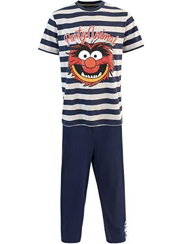 Disney Herren The Muppets Schlafanzug Das Tier Blau X-Large
