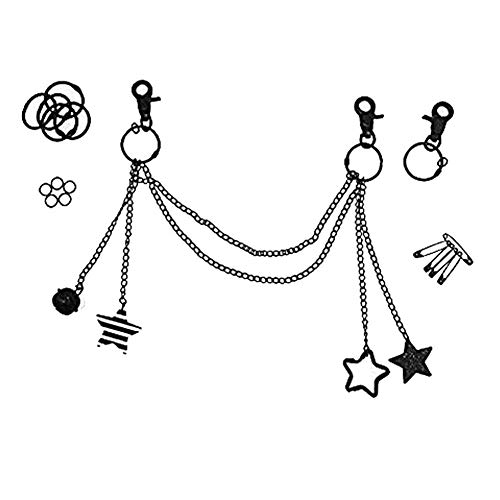 Ita Bag Chain Ita Bag Accessories DIY Accessories Ita Bag Decoration Pins, Cosplay,Comic Con BLACK