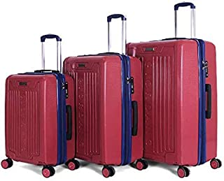 Giordano Luggage Trolley Bags For Unisex 3 Pcs, Red, 25-0274