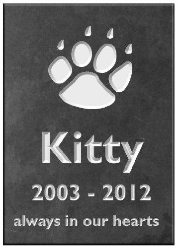 Numbers & Names by Atlantic Hardware Plaque commémorative personnalisée pour Animal de Compagnie 14 x 10cm.