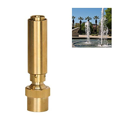 NAVADEAL 1 1/2' DN40 Brass Geyser Water Fountain Nozzle Spray Pond Sprinkler - For Garden Pond, Amusement Park, Museum, Library