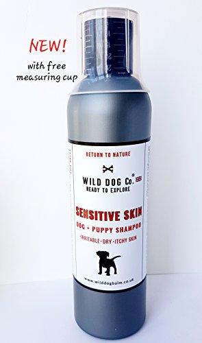 Wild Dog Co Sensitive Shampoo für juckende Hunde und Welpen, beruhigend für Reizung, trockene Haut, hochkonzentrierte Rezeptur, hergestellt in Großbritannien