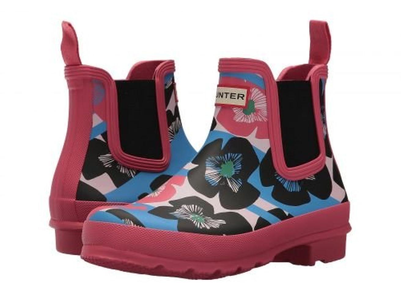 簡単な制裁蓮HUNTER(ハンター) レディース 女性用 シューズ 靴 ブーツ レインブーツ Original Floral Stripe Chelsea Boot - Floral Stripe/Peony [並行輸入品]