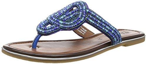Salamander Damen Rosana Zehentrenner, Mehrfarbig (Jeans Multi 42), 40