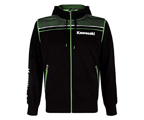 Kawasaki Sports Kapuzensweatshirt Hoody Herren schwarz Größe L