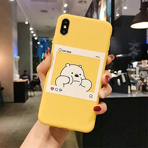 ZYMQ Dibujos Animados Lindo Oso Divertido Panda PANTEL Modelo Funda para teléfono para iPhone 11 Pro MAX X XS MAX XR 6 6S 7 8 Plus SE 2020 Retro,D,iPhone 12 Mini