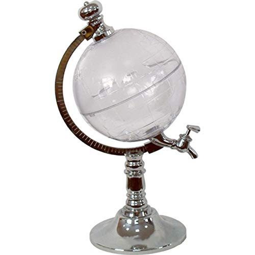 Diseño único Mini Globe Shape Home Night Club Dispensador de Bebidas alcohólicas Dispensador de Bebidas líquidas para Cerveza Máquina Herramienta (Plata) ESjasnyfall